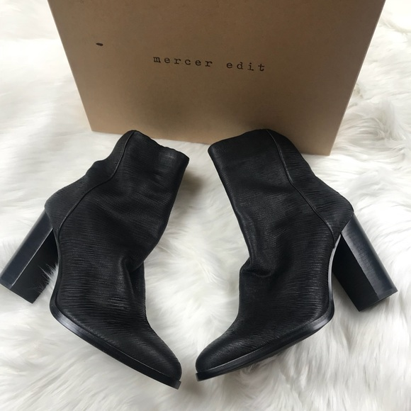 63eb49a6532 Mercer Edit Black Ankle Bootie Size 11 NWT